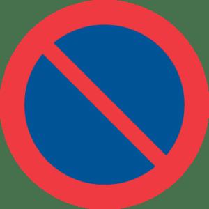 Förbud mot att parkera fordon