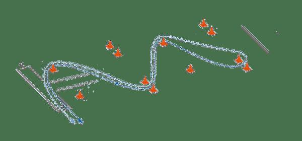Lågfartsbanan som används vid lågfartsprovet på mc-uppkörningen